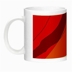 Red And Orange Decorative Abstraction Night Luminous Mugs by Valentinaart