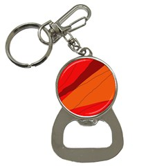 Red And Orange Decorative Abstraction Bottle Opener Key Chains by Valentinaart