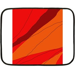 Red And Orange Decorative Abstraction Double Sided Fleece Blanket (mini)  by Valentinaart