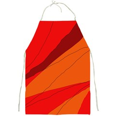 Red And Orange Decorative Abstraction Full Print Aprons by Valentinaart