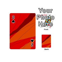 Red And Orange Decorative Abstraction Playing Cards 54 (mini)  by Valentinaart