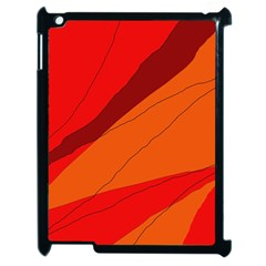 Red And Orange Decorative Abstraction Apple Ipad 2 Case (black) by Valentinaart