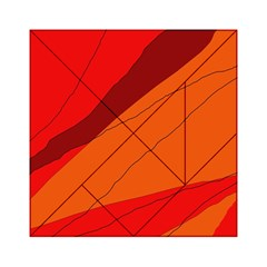 Red And Orange Decorative Abstraction Acrylic Tangram Puzzle (6  X 6 ) by Valentinaart