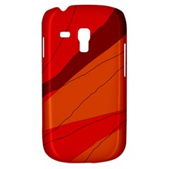 Red And Orange Decorative Abstraction Samsung Galaxy S3 Mini I8190 Hardshell Case by Valentinaart