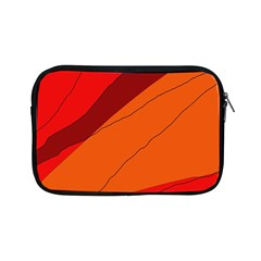 Red And Orange Decorative Abstraction Apple Ipad Mini Zipper Cases by Valentinaart