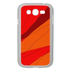 Red And Orange Decorative Abstraction Samsung Galaxy Grand Duos I9082 Case (white) by Valentinaart