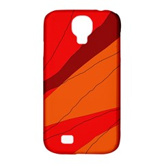 Red And Orange Decorative Abstraction Samsung Galaxy S4 Classic Hardshell Case (pc+silicone) by Valentinaart