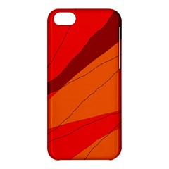 Red And Orange Decorative Abstraction Apple Iphone 5c Hardshell Case by Valentinaart