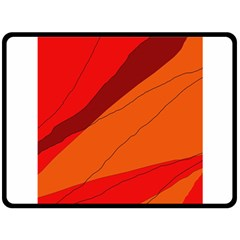 Red And Orange Decorative Abstraction Double Sided Fleece Blanket (large)  by Valentinaart