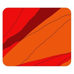 Red And Orange Decorative Abstraction Double Sided Flano Blanket (small)  by Valentinaart