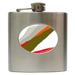 Decorative abstraction Hip Flask (6 oz) by Valentinaart