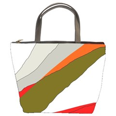 Decorative Abstraction Bucket Bags by Valentinaart