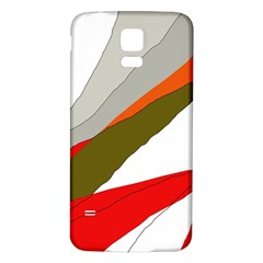 Decorative Abstraction Samsung Galaxy S5 Back Case (white) by Valentinaart