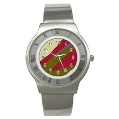 Decoratve Abstraction Stainless Steel Watch by Valentinaart