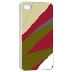 Decoratve Abstraction Apple Iphone 4/4s Seamless Case (white) by Valentinaart