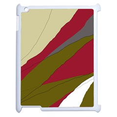 Decoratve Abstraction Apple Ipad 2 Case (white) by Valentinaart