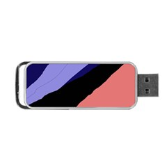 Purple And Pink Abstraction Portable Usb Flash (one Side) by Valentinaart