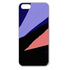 Purple And Pink Abstraction Apple Seamless Iphone 5 Case (clear) by Valentinaart
