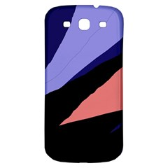 Purple And Pink Abstraction Samsung Galaxy S3 S Iii Classic Hardshell Back Case by Valentinaart