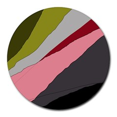 Colorful Abstraction Round Mousepads by Valentinaart