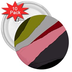 Colorful Abstraction 3  Buttons (10 Pack)  by Valentinaart