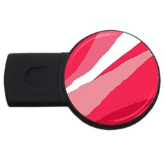 Pink Abstraction Usb Flash Drive Round (2 Gb)  by Valentinaart