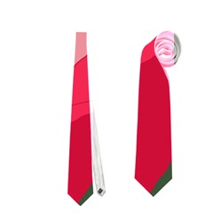 Pink abstraction Neckties (Two Side)  by Valentinaart