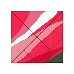 Pink Abstraction Acrylic Tangram Puzzle (4  X 4 ) by Valentinaart