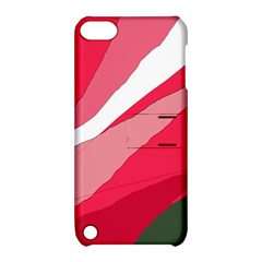 Pink Abstraction Apple Ipod Touch 5 Hardshell Case With Stand by Valentinaart
