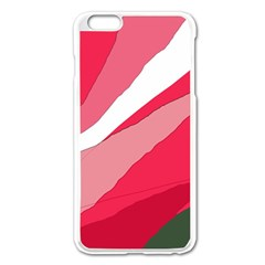 Pink Abstraction Apple Iphone 6 Plus/6s Plus Enamel White Case by Valentinaart
