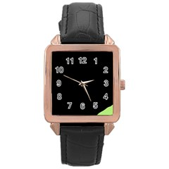 Green Ball Rose Gold Leather Watch  by Valentinaart