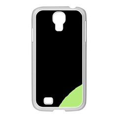 Green Ball Samsung Galaxy S4 I9500/ I9505 Case (white) by Valentinaart