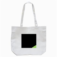 Green Ball Tote Bag (white) by Valentinaart