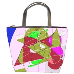 Flora abstraction Bucket Bags