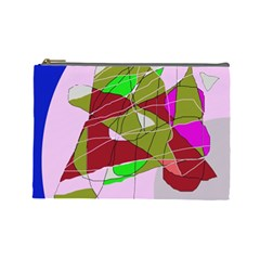 Flora Abstraction Cosmetic Bag (large)  by Valentinaart