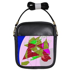Flora Abstraction Girls Sling Bags by Valentinaart