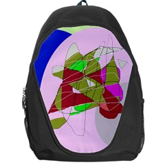 Flora Abstraction Backpack Bag by Valentinaart