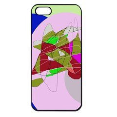 Flora Abstraction Apple Iphone 5 Seamless Case (black) by Valentinaart