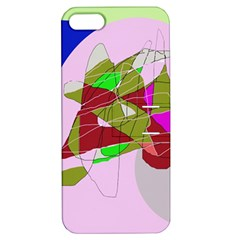 Flora Abstraction Apple Iphone 5 Hardshell Case With Stand by Valentinaart
