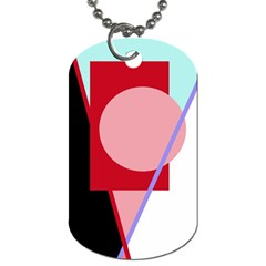 Decorative Geomeric Abstraction Dog Tag (two Sides) by Valentinaart