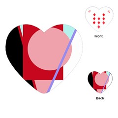 Decorative Geomeric Abstraction Playing Cards (heart)  by Valentinaart