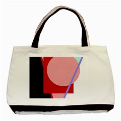 Decorative Geomeric Abstraction Basic Tote Bag (two Sides) by Valentinaart