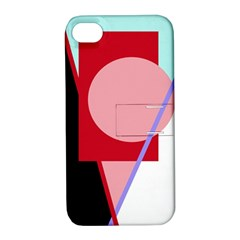 Decorative Geomeric Abstraction Apple Iphone 4/4s Hardshell Case With Stand by Valentinaart