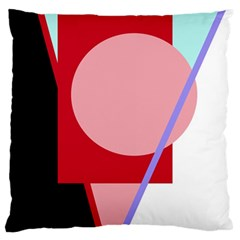Decorative Geomeric Abstraction Large Flano Cushion Case (two Sides) by Valentinaart