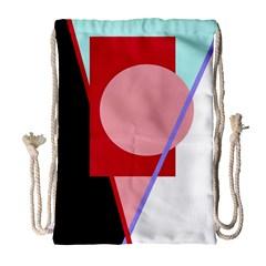 Decorative geomeric abstraction Drawstring Bag (Large)