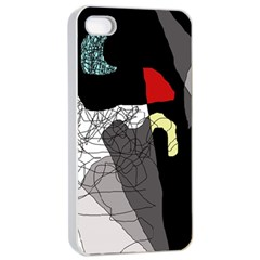 Decorative Abstraction Apple Iphone 4/4s Seamless Case (white) by Valentinaart
