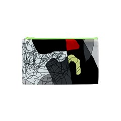 Decorative Abstraction Cosmetic Bag (xs) by Valentinaart