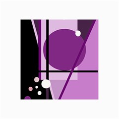 Purple Geometrical Abstraction Collage Prints by Valentinaart