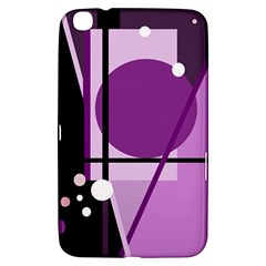 Purple Geometrical Abstraction Samsung Galaxy Tab 3 (8 ) T3100 Hardshell Case  by Valentinaart