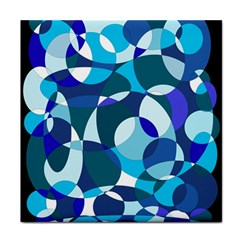 Blue Abstraction Tile Coasters by Valentinaart